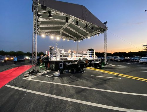 Drive-in theater boxing event